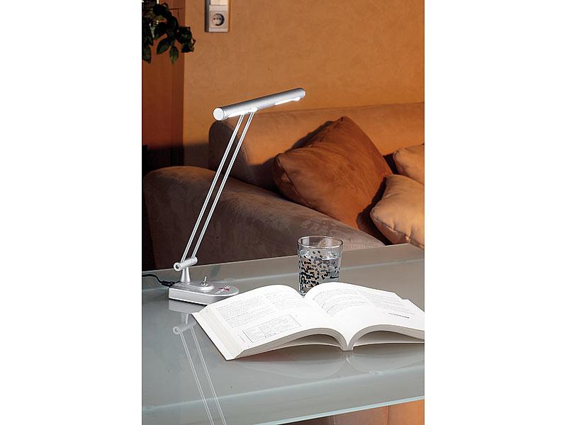 lunartec led tisch lampe premium metallic mit 48 leds. Black Bedroom Furniture Sets. Home Design Ideas