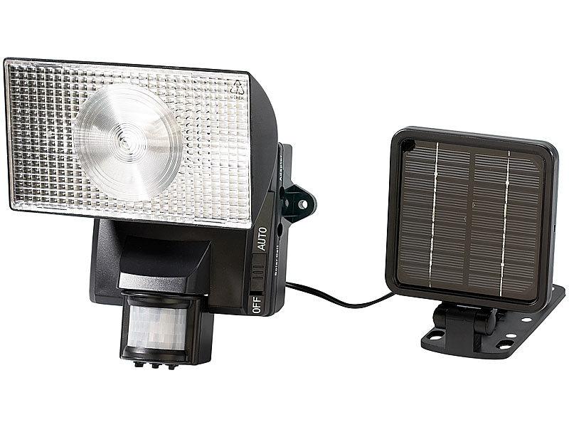 lunartec solar halogenstrahler mit bewegungsmelder. Black Bedroom Furniture Sets. Home Design Ideas