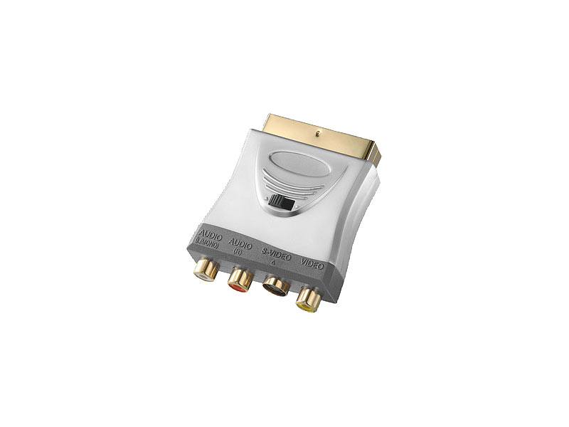 Fibrionic Premium-Adapter SCART auf AV-Cinch / S-Video, umschaltbar