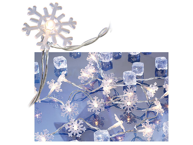 lunartec fensterbeleuchtung motiv lichterkette snow 20 schneeflocken 3m. Black Bedroom Furniture Sets. Home Design Ideas