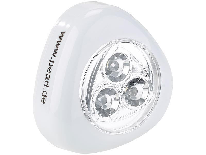 Lunartec Schrank Licht Stick Push Light Mit 3 Weissen Leds Weiss