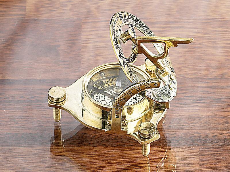 st leonhard messing sonnenuhr traveller mit kompass. Black Bedroom Furniture Sets. Home Design Ideas