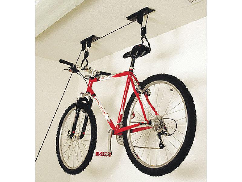 agt platzsparender fahrrad aufh nger mit komfortablem liftsystem bis 20kg. Black Bedroom Furniture Sets. Home Design Ideas