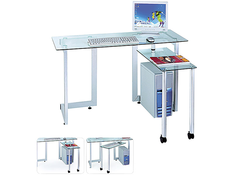 Computer glastisch flexi desk - Pc glastisch ...