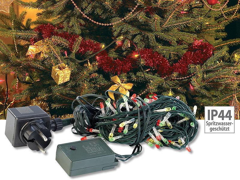 lunartec lichterketten bunt deko party lichterkette 7 m mit 100 multicolor leds ip44 led. Black Bedroom Furniture Sets. Home Design Ideas