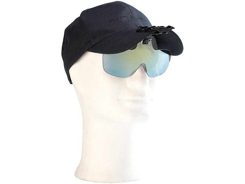 Speeron Sonnenbrillen Clip: Ansteck-Sonnenbrille für Baseball-Caps ...