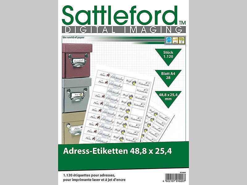 Sattleford Adressaufkleber Drucker 1120 Adress Etiketten