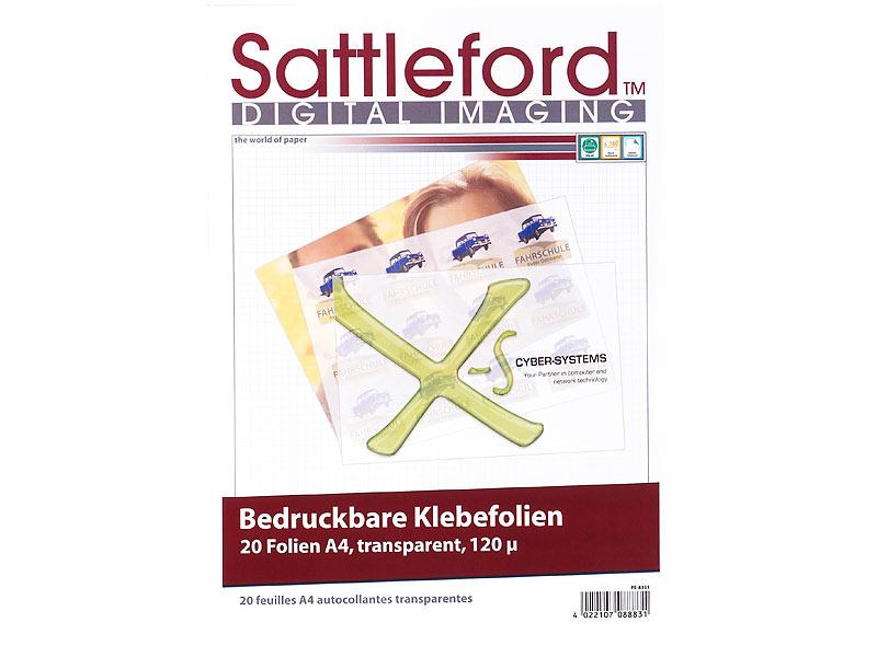 Sattleford klebefolie zum bedrucken 20 klebefolien a4 for Klebefolie drucken