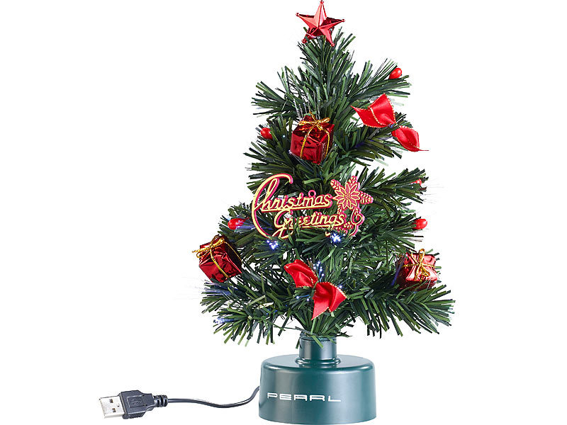 pearl led tannenbaum usb weihnachtsbaum mit led farbwechsel glasfaserlichtern weihnachtsb umchen. Black Bedroom Furniture Sets. Home Design Ideas
