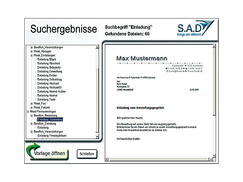 S.A.D. Best of Word 2009 - 2.450 Vorlagen