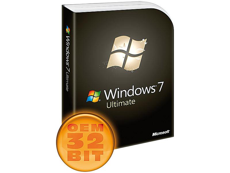 microsoft windows 7 ultimate sb oem vollversion 32 bit. Black Bedroom Furniture Sets. Home Design Ideas