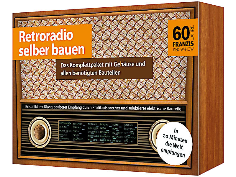 franzis retroradio selber bauen komplettpaket mit mw radio. Black Bedroom Furniture Sets. Home Design Ideas