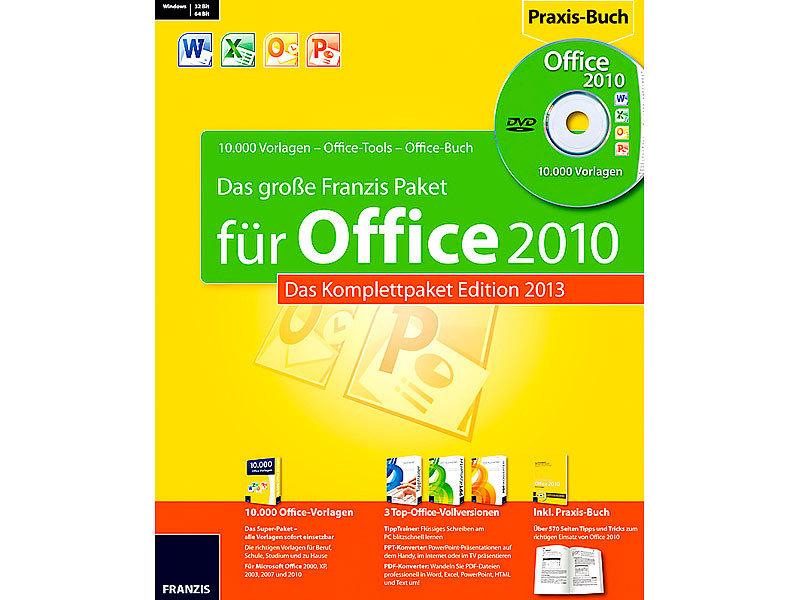 franzis das grosse franzis paket fuer office  edition