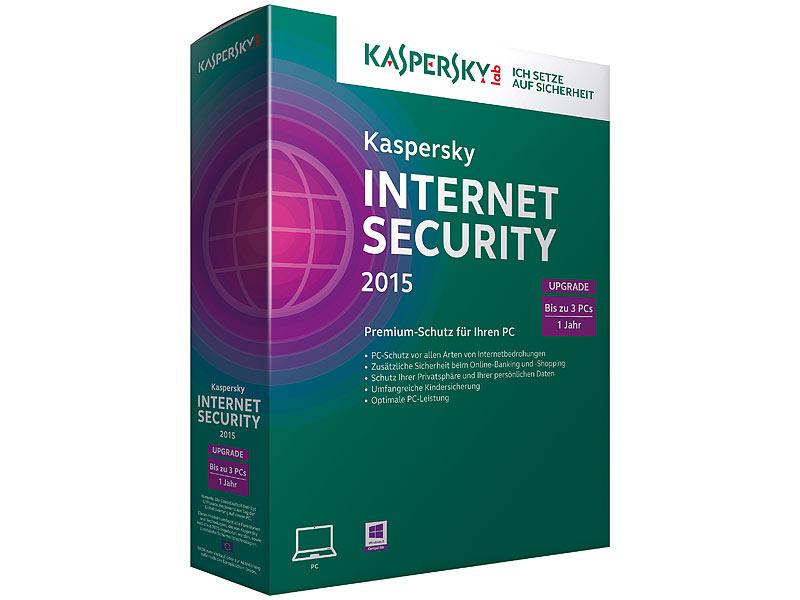 kaspersky internet security 2015 3 pcs upgrade inkl. Black Bedroom Furniture Sets. Home Design Ideas