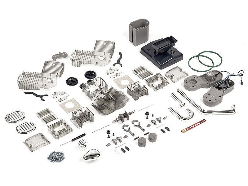 franzis modellbau s tze das franzis lernpaket v2 motorradmotor didaktisches lernset. Black Bedroom Furniture Sets. Home Design Ideas