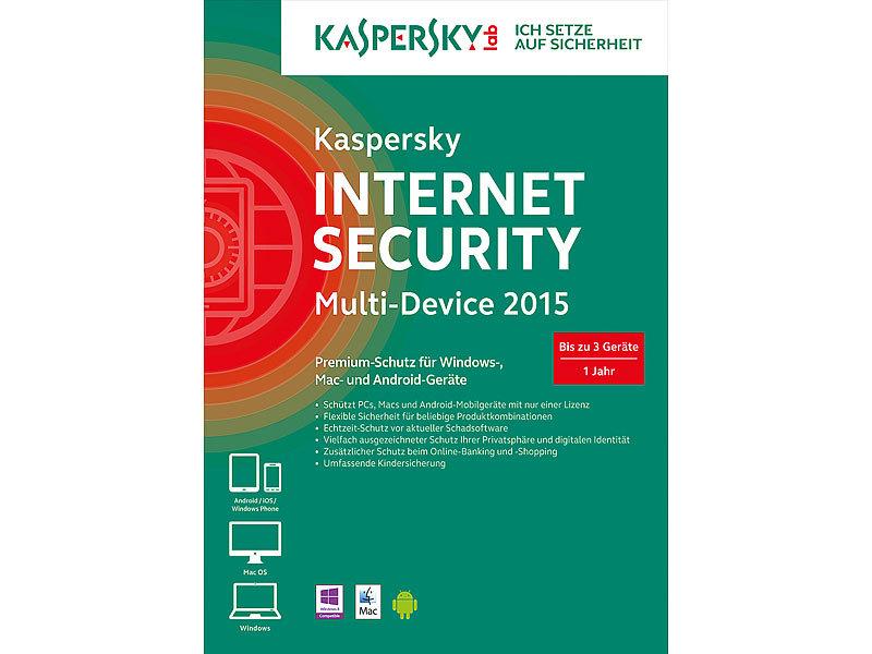 kaspersky internet security 2015 multi device 3 ger te. Black Bedroom Furniture Sets. Home Design Ideas