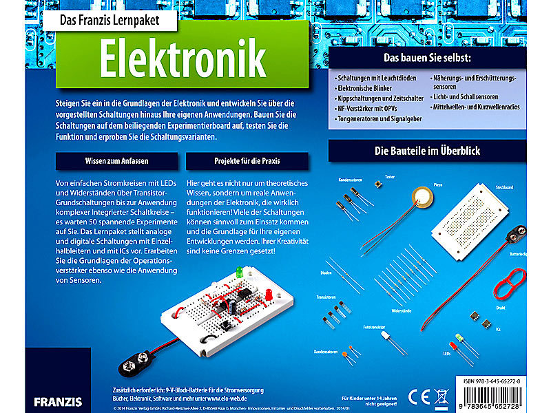 Lernpaket elektronik franzis