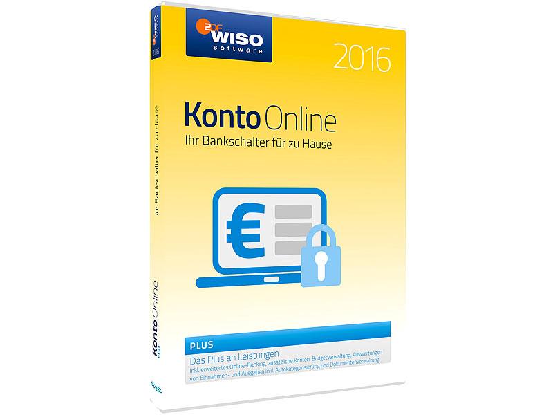WISO Finanzsoftware Konto line Plus 2016 Buchhaltung