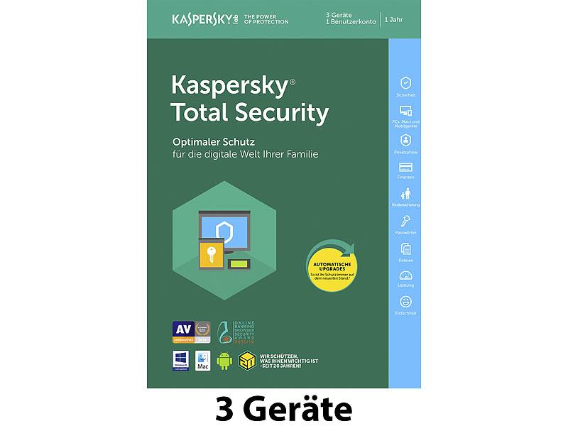 kaspersky total security 2018 produkt key f r 3 ger te. Black Bedroom Furniture Sets. Home Design Ideas