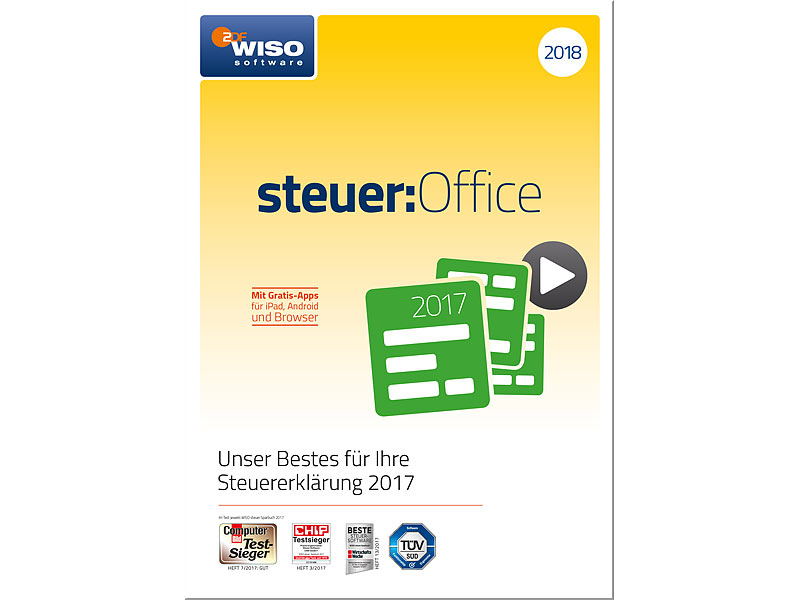 wiso program steuer office 2018 steuersoftware. Black Bedroom Furniture Sets. Home Design Ideas