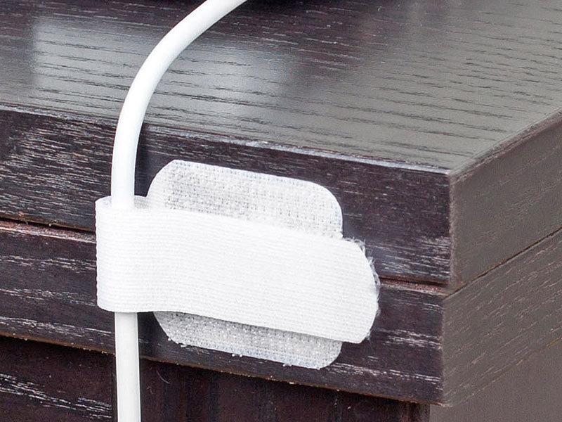 ltc label the cable wall 10 selbstklebende klett kabelhalter wei. Black Bedroom Furniture Sets. Home Design Ideas