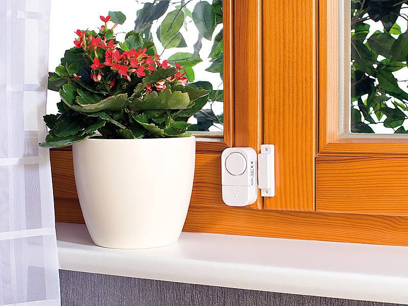 visortech fenstersicherung 9er set mini t r und fensteralarme 95 db 2 jahre batterielaufzeit. Black Bedroom Furniture Sets. Home Design Ideas