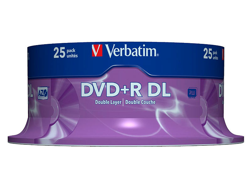 verbatim dvd r 8 5gb 8x double layer 25er spindel. Black Bedroom Furniture Sets. Home Design Ideas