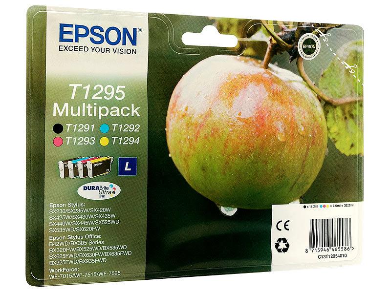 epson original tintenpatronen multipack t1295 bk c m y. Black Bedroom Furniture Sets. Home Design Ideas