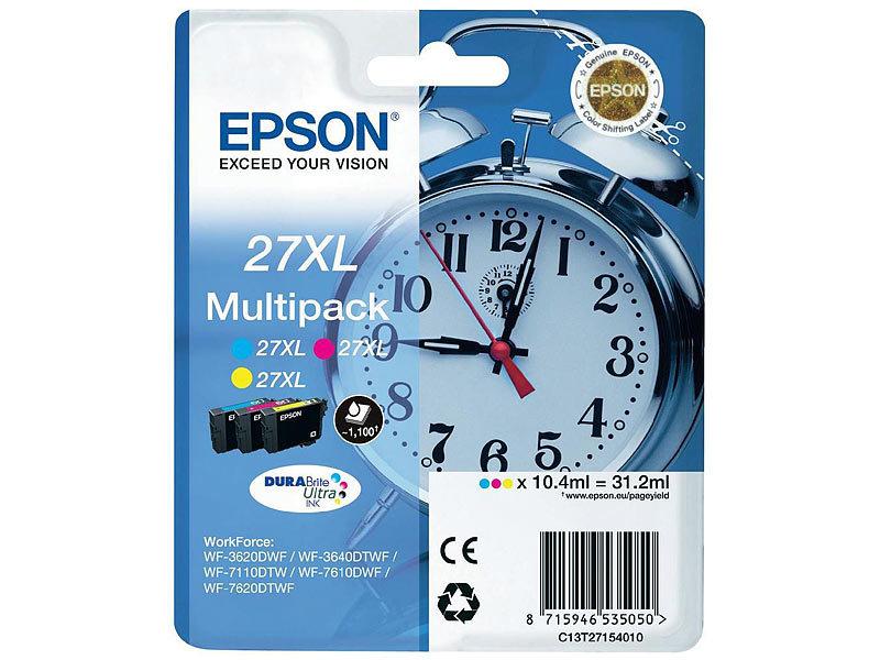 epson original tintenpatronen multipack t2715 27xl c m y. Black Bedroom Furniture Sets. Home Design Ideas
