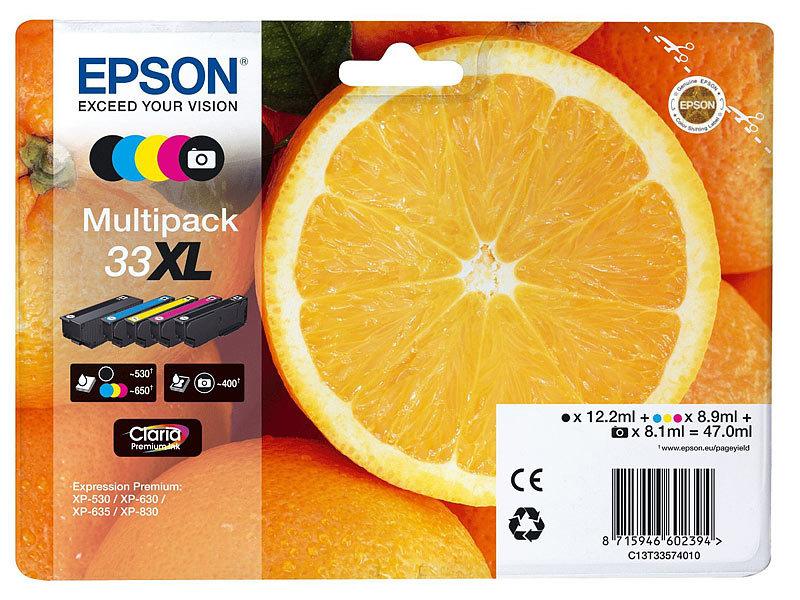 epson original tintenpatronen multipack 33xl t3357 bk c m. Black Bedroom Furniture Sets. Home Design Ideas
