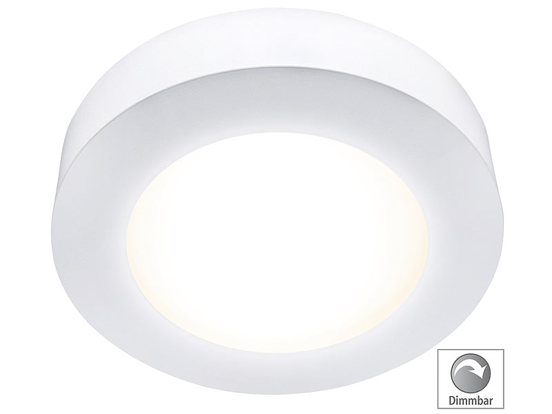 mlight ein unterbau led panel rund dimmbar warmwei 18 watt lumen. Black Bedroom Furniture Sets. Home Design Ideas