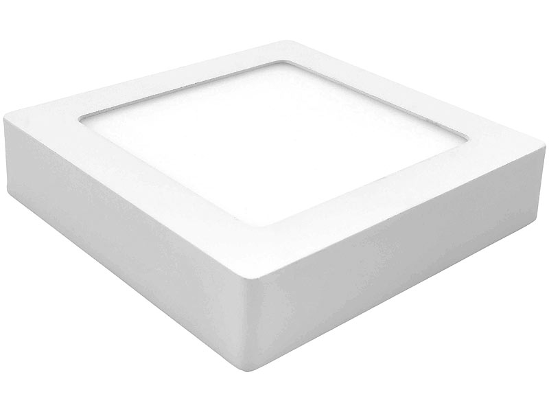 mlight aufputz led panele led ein unterbau panel quadratisch dimmbar warmwei 6 w 380 lm. Black Bedroom Furniture Sets. Home Design Ideas