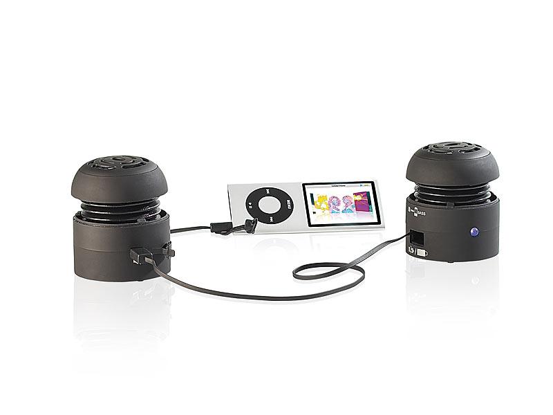 auvisio mini reiselautsprecher mobiler mini aktivlautsprecher beat can 3 0 stereo 10 watt. Black Bedroom Furniture Sets. Home Design Ideas