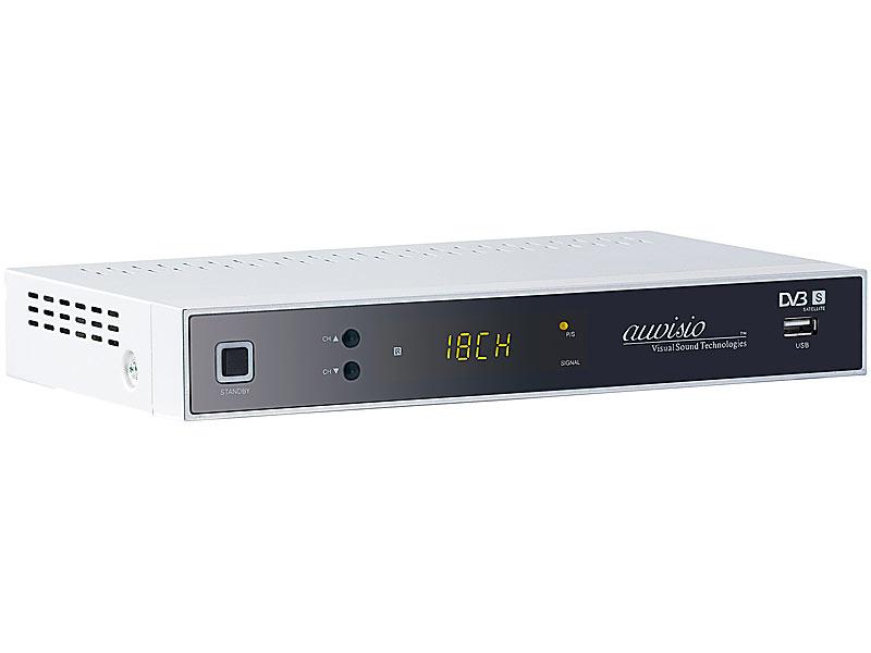 auvisio digitaler satelliten receiver mit hdmi usb. Black Bedroom Furniture Sets. Home Design Ideas