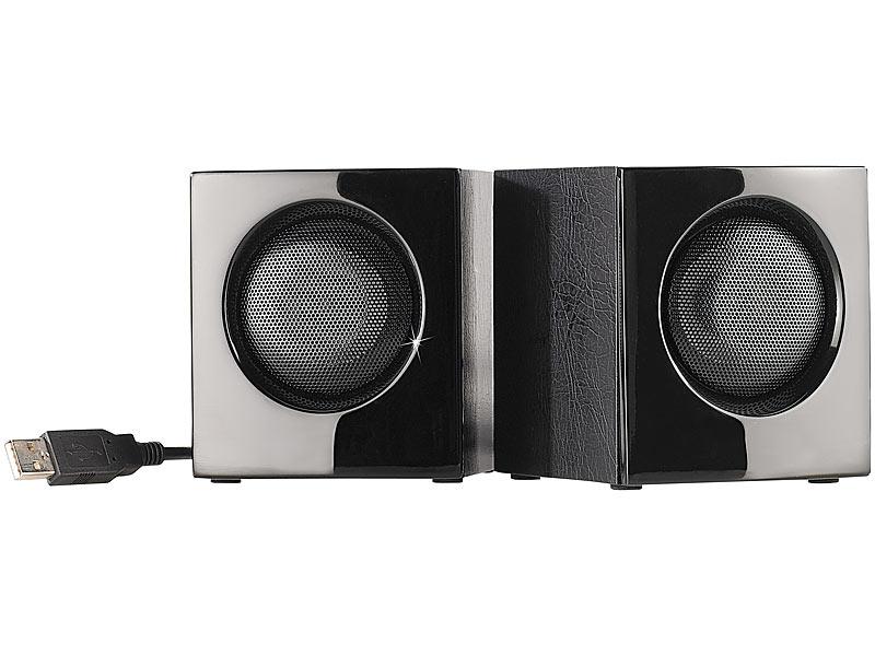 auvisio mini usb lautsprecher lounge cube f r pc und. Black Bedroom Furniture Sets. Home Design Ideas