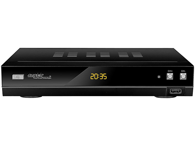 auvisio auvisio digitaler hd sat receiver usb mediaplayer refurbished. Black Bedroom Furniture Sets. Home Design Ideas