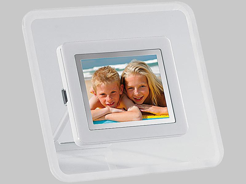 pearl digitaler bilderrahmen 6 1 cm 2 4 mit integriertem akku. Black Bedroom Furniture Sets. Home Design Ideas