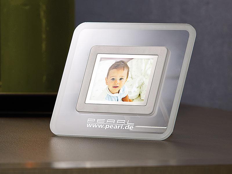 digitaler bilderrahmen 6 1 cm 2 4 mit integriertem akku. Black Bedroom Furniture Sets. Home Design Ideas