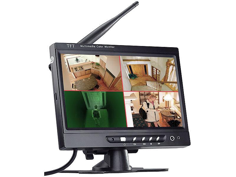 visortech berwachungs monitor mit aufnahme funktion 17 8cm 7. Black Bedroom Furniture Sets. Home Design Ideas