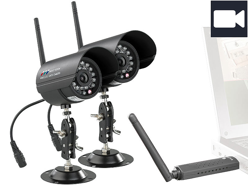 visortech digitales pc funk berwachungssystem mit 2. Black Bedroom Furniture Sets. Home Design Ideas