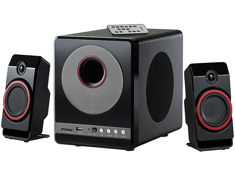 auvisio 2 1 speaker 2 1 premium multimedia soundsystem. Black Bedroom Furniture Sets. Home Design Ideas