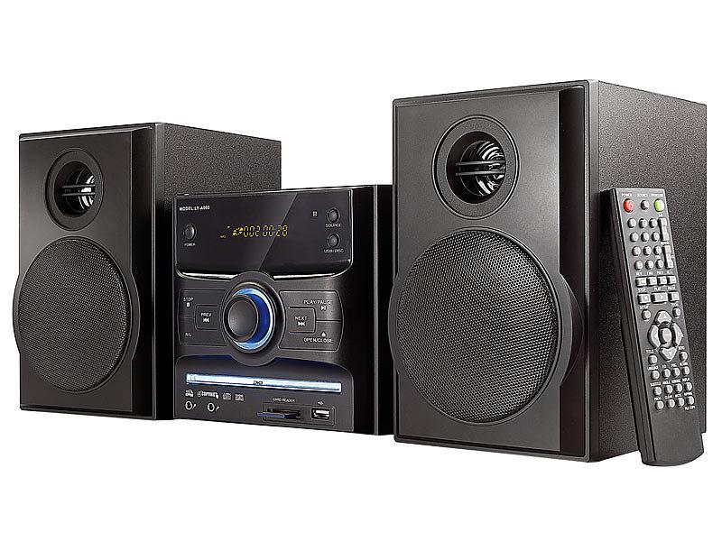 auvisio micro stereoanlage mit dvd usb sd karte mhx 540 dvd 60 w. Black Bedroom Furniture Sets. Home Design Ideas