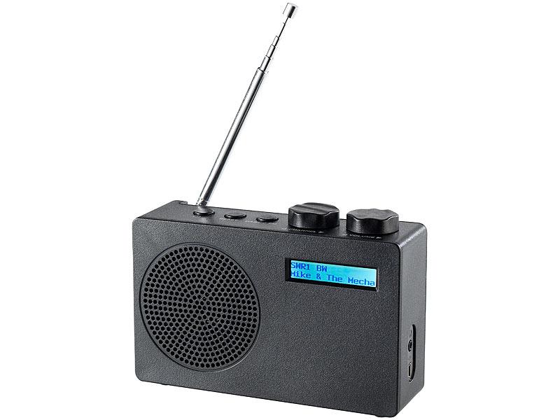 Mobiles DAB+/FM-Radio DOR-100.rx mit RDS-Funktion