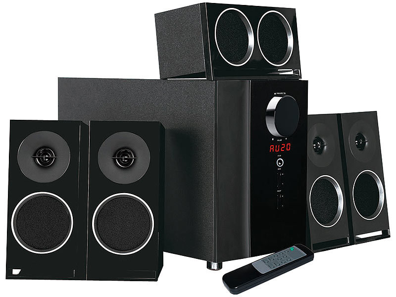 auvisio surround system pcm 5 1 surround soundsystem. Black Bedroom Furniture Sets. Home Design Ideas