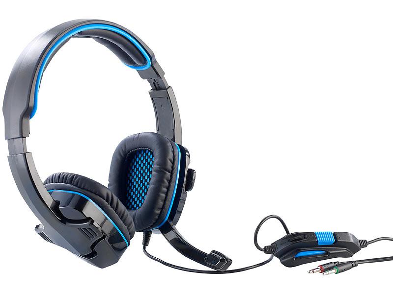 Mod-it Einsteiger-Gaming-Headset mit Lautstärkeregler & Mikrofon-Mute