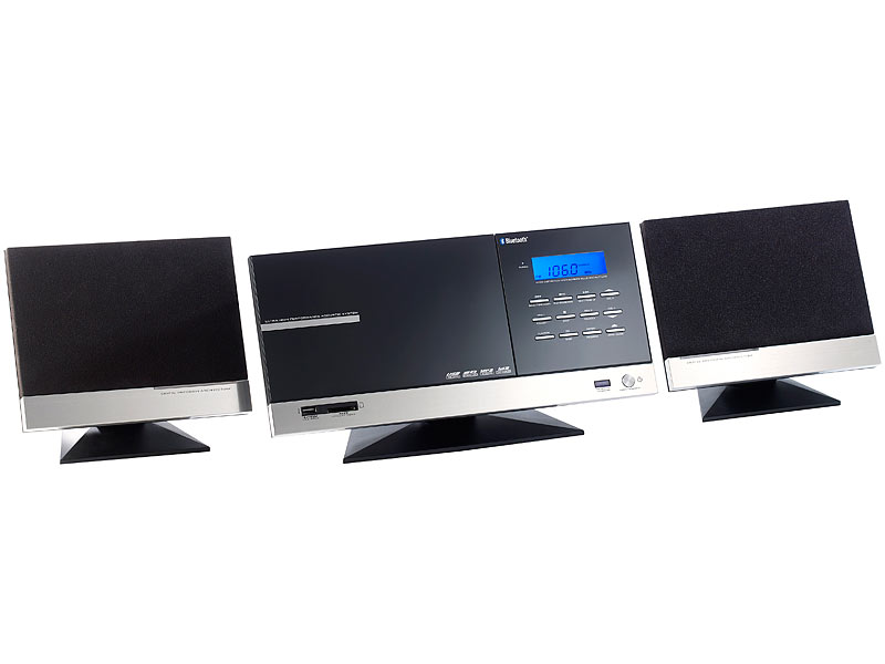auvisio hifi stereoanlage m bluetooth cd usb fm wecker 32w refurbished. Black Bedroom Furniture Sets. Home Design Ideas