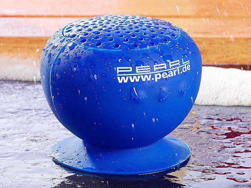 pearl aktivlautsprecher mit bluetooth 2 1 f bad outdoor wasserdicht 6 w. Black Bedroom Furniture Sets. Home Design Ideas