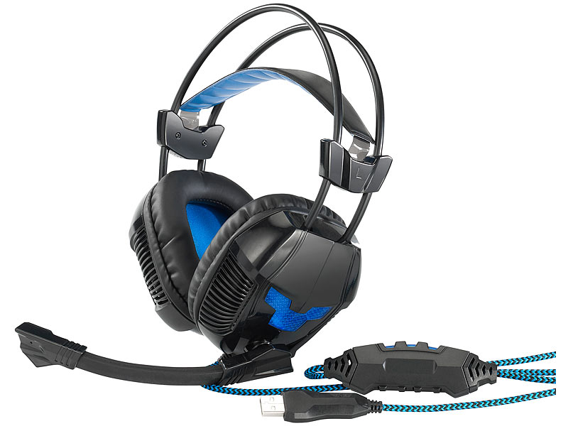 Mod-it USB-Gaming-Headset Kabelfernbedienung & Stummschalt-Funktion