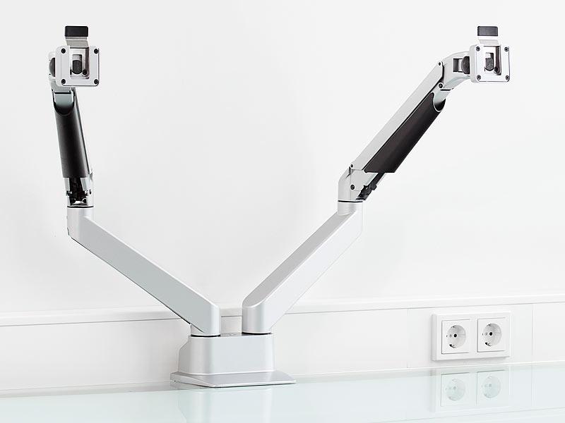 general office doppelmonitor gasgefederter doppel monitor. Black Bedroom Furniture Sets. Home Design Ideas