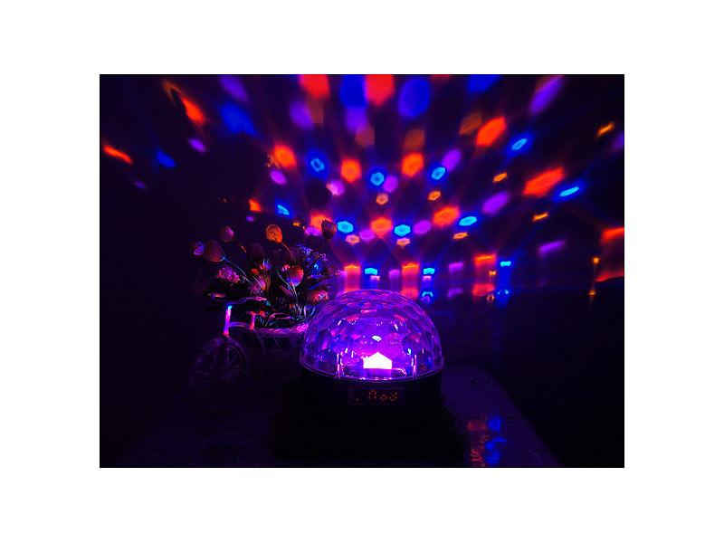 auvisio discokugel mit musik mobile discokugel mit lautsprecher bluetooth mp3 player 20 watt. Black Bedroom Furniture Sets. Home Design Ideas
